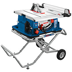 4100-10 10 inch Worksite Table Saw with Gravty-Rise Wheeled Stand