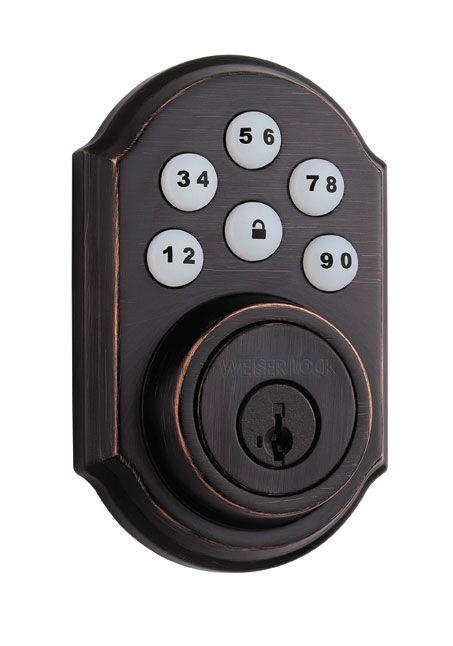 SmartCode 5 Venetian Bronze Keyless Entry Deadbolt