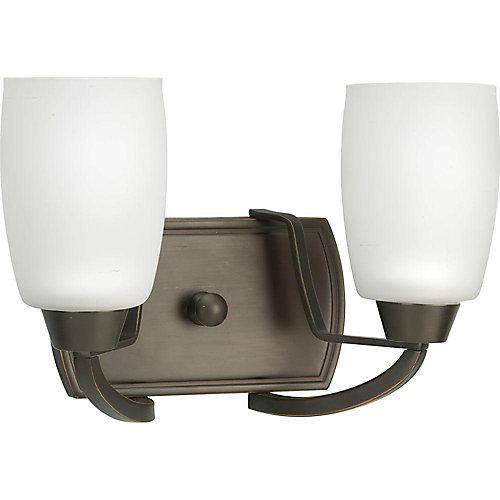 Wisten Collection 2-Light Antique Bronze Vanity Light Fixture