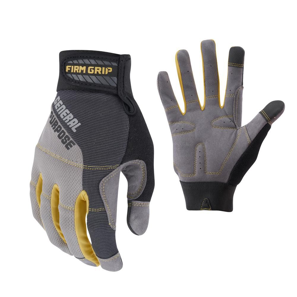 Firm Grip High Dexterity All Purpose Gloves - Large