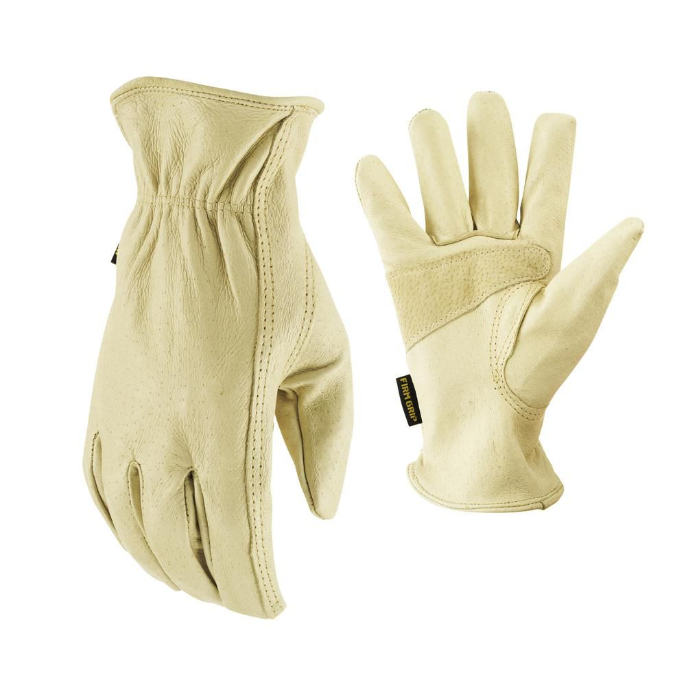 Full Grain Pigskin Leather Gloves - Large