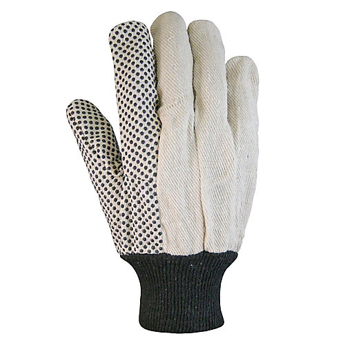 Dotted Canvas Cotton Gloves