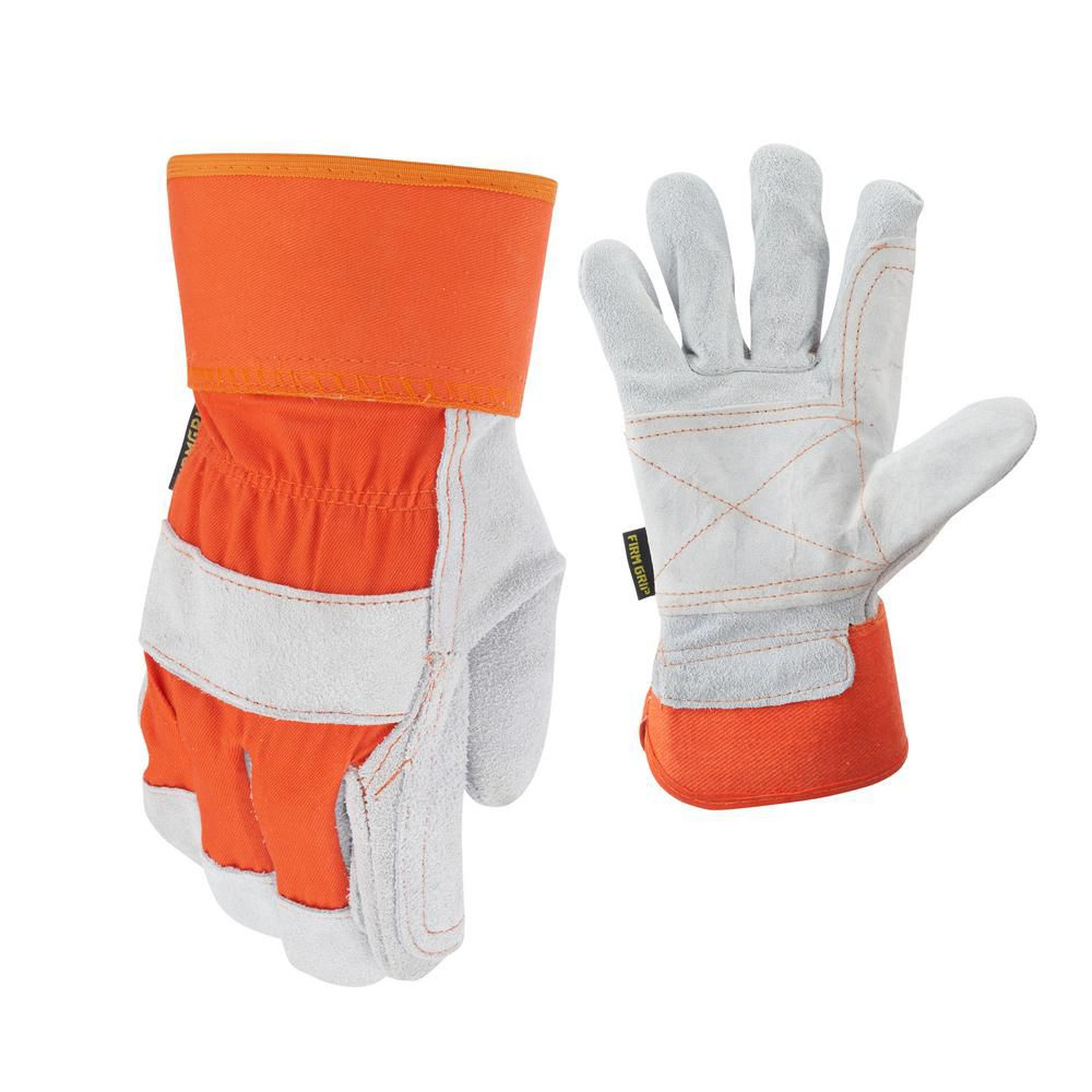 Double Leather Palm Gloves - Large