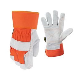 Firm Grip Double Leather Palm Gloves - Large
