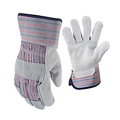 Suede Cowhide Leather Palm Gloves - Large