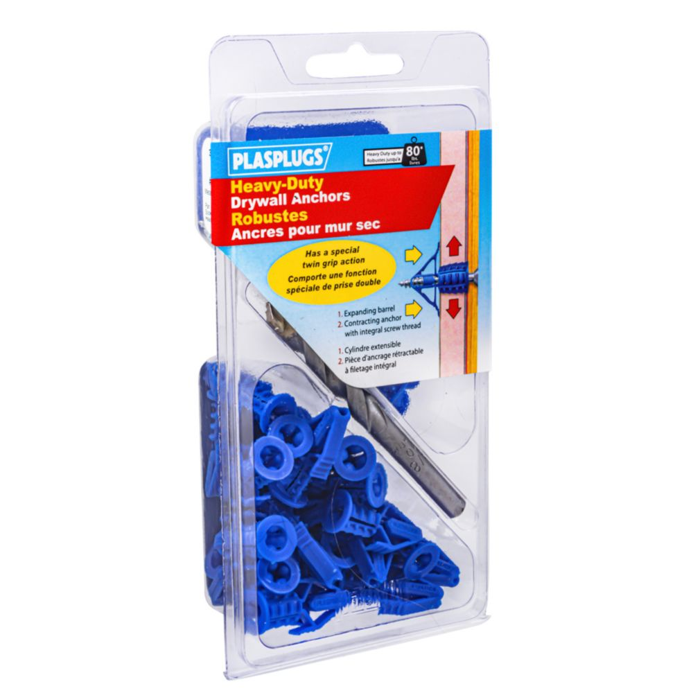 No.8 Plasplug  Drywall Anchor With Screws