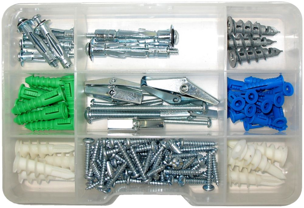 120 Pc Assorted Wall Anchor Kit
