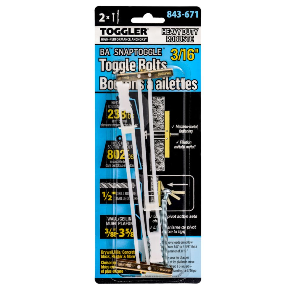 3/16 Toggler Snap Toggle with Screws