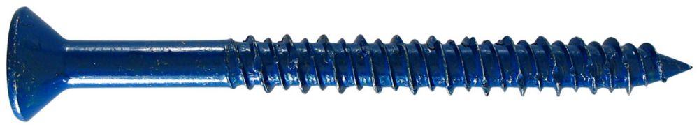 3/16 X 1 3/4 Flat Socket Head Concrete Screw With Bit