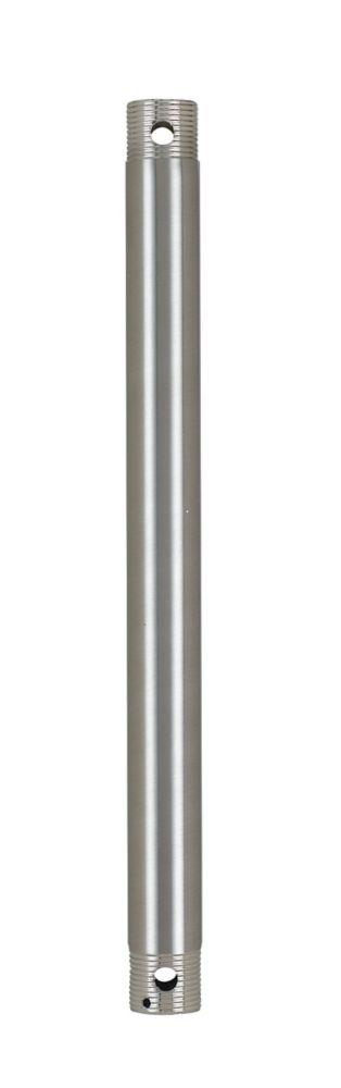 30,48cm Tige Inférieure, Fini nickel brossé