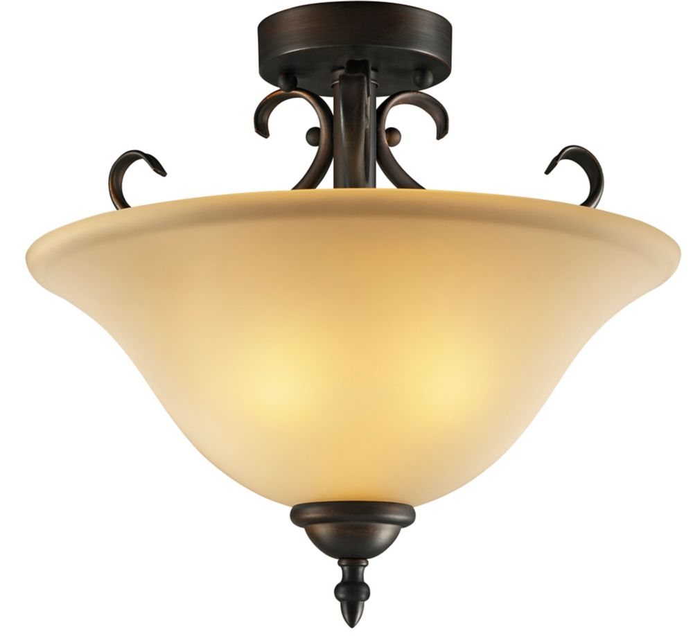 Hampton Bay Simplicity 2 Light Orb Semi-Flush