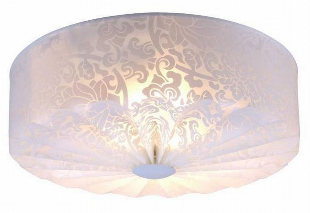 Flush mount ceiling lights the home depot canada salene collection 3 light flushmount ceiling light fixture in white with lace fabric detail aloadofball Image collections