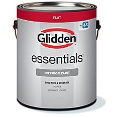 Essentials White Base Flat Interior Paint & Primer, 3.7 L