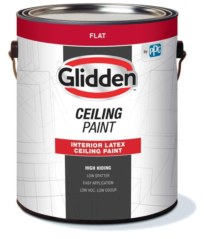 Glidden Glidden Vantage Interior Latex Ceiling White The Home Depot Canada