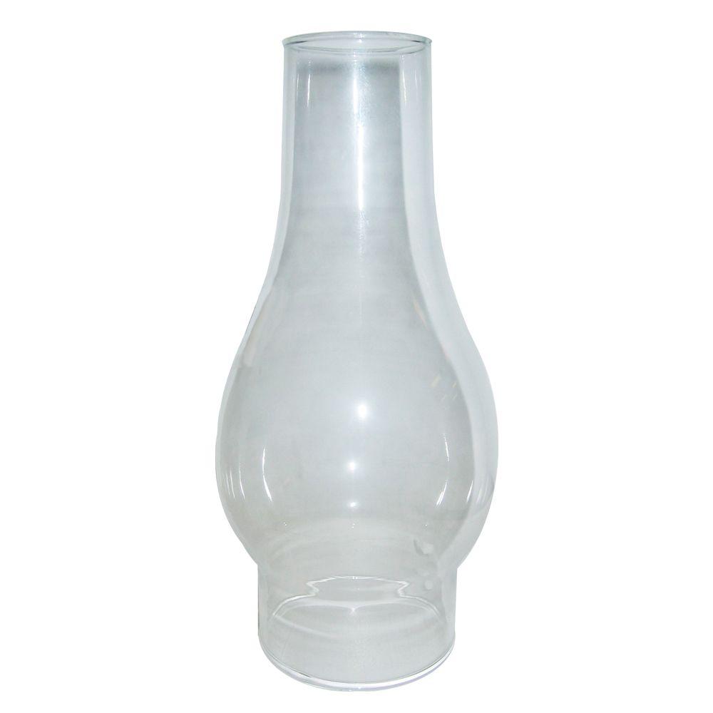 10,16cm verre cheminée, fini transparent