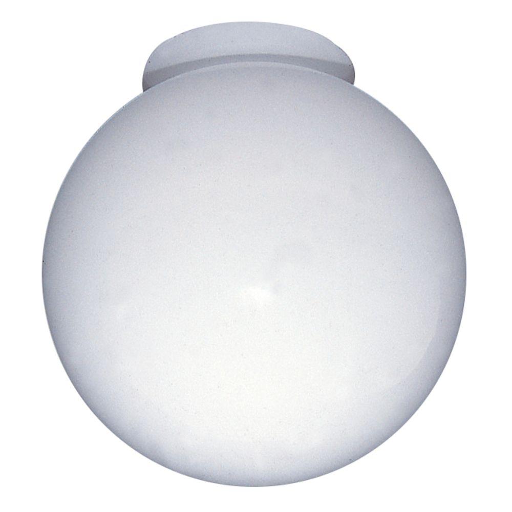 8 In. Globe glass, White Finish