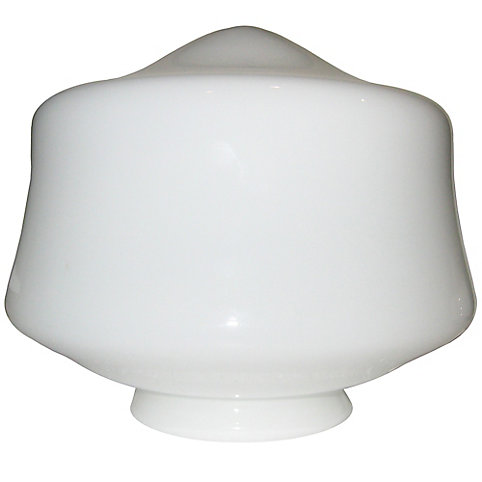 shawson lighting 7 5 in schoolhouse glass white finish the home