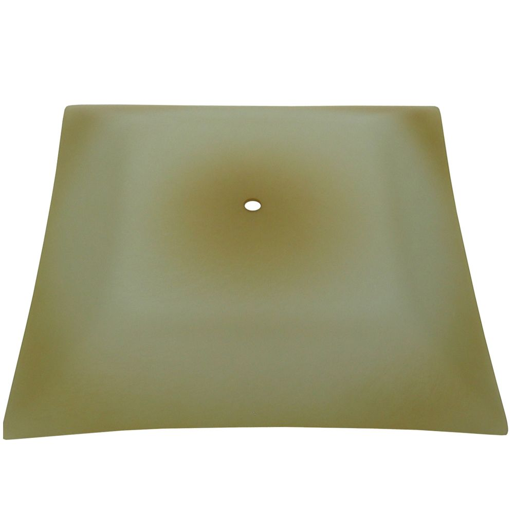 12 In. Bedroom Glass, Textured Beige Washed Finish