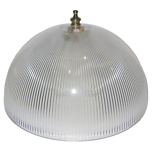 Shawson lighting 8 in dome clip on clear finish the home depot 8 in dome clip on clear finish mozeypictures Image collections