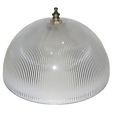 8 In. Dome Clip-On, Clear Finish