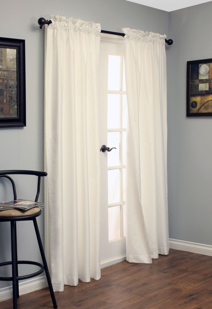 Shangri La Insulated Curtain, White - 50 Inches X 84 Inches