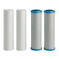4-Pack - 5 micron Filters (2 - Sediment, 2 - Carbon)