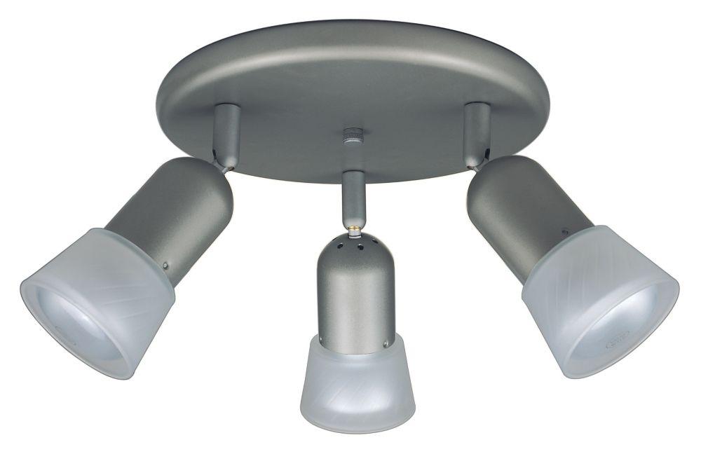 Hampton Bay 3 Light Semi-Flushmount Ceiling Fixture