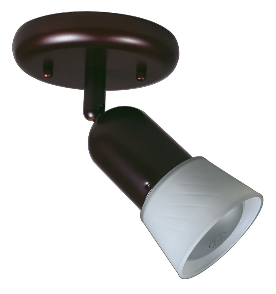 1 Light Semi-Flushmount Ceiling Fixture Antique Bronze Finish Opal Glass Shade