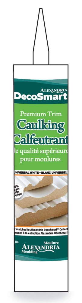Calfeutrant au latex a base d'eau blanc universel 304ML