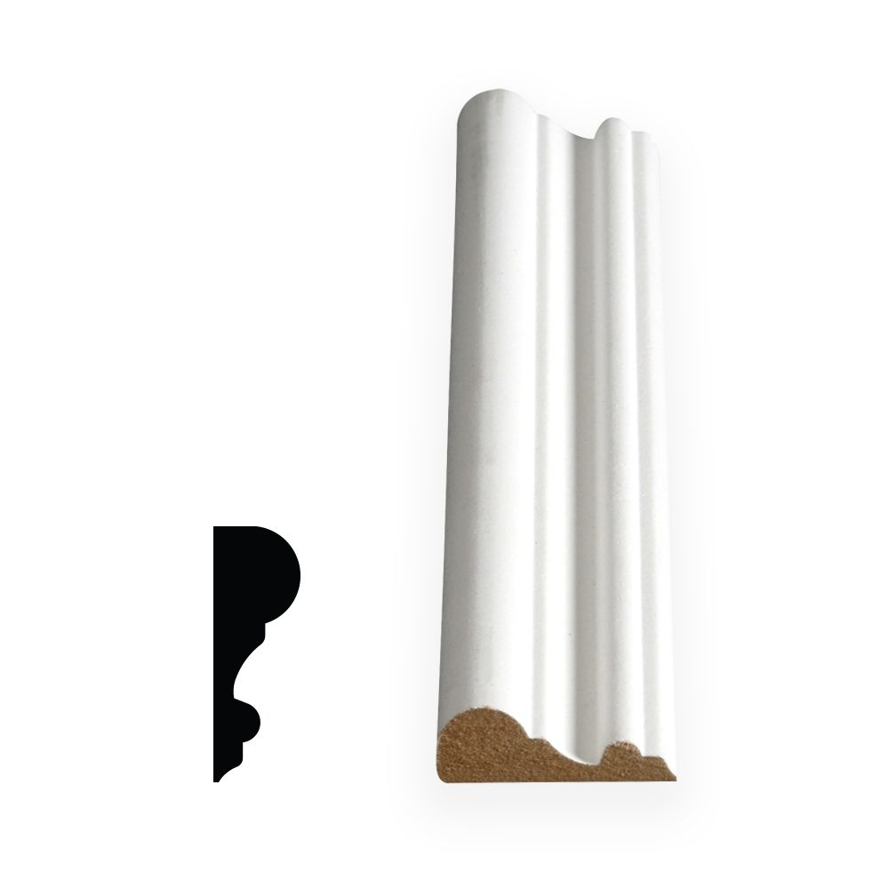 Painted Fibreboard Decosmart Chair Rail 5/8 In. x 1-3/4 In. x 8 Ft.