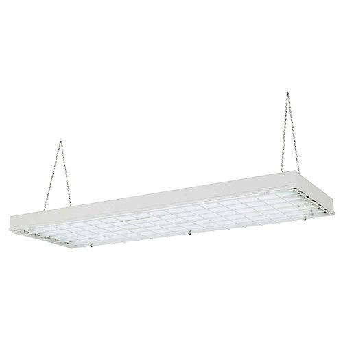 Luminaire industriel fluorescent à rendement élevé, 6 lumières