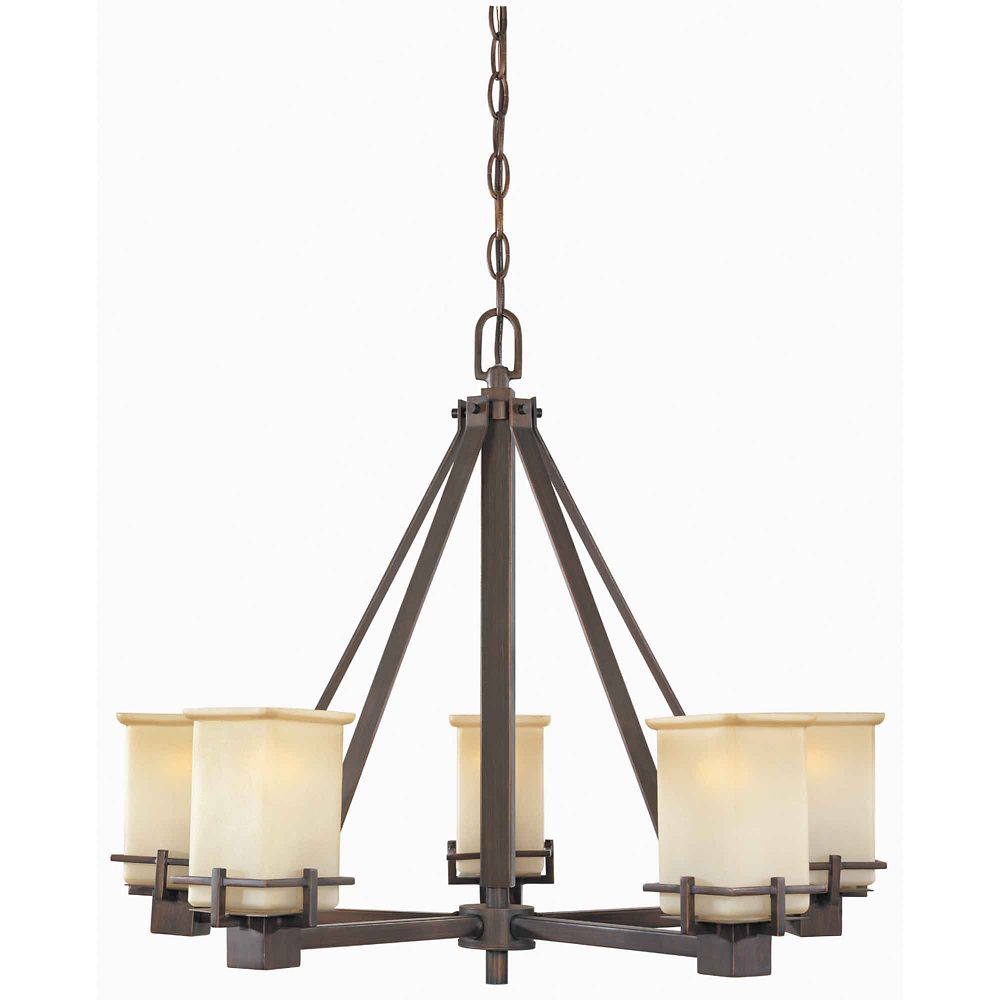 Hampton Bay 5 Light Oil Brushed Bronze Chandelier The