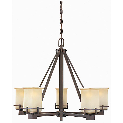 Hampton bay 5 light oil brushed bronze chandelier the home depot 5 light oil brushed bronze chandelier aloadofball Choice Image