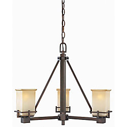 Hampton Bay 3-Light Oil Brushed Bronze Chandelier