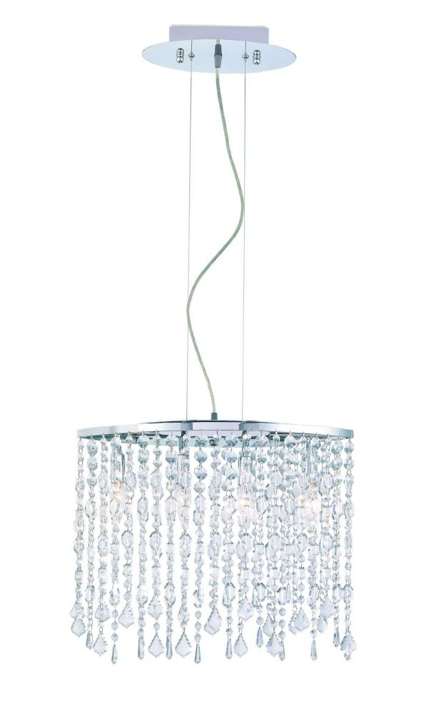 hampton bay luminaire suspendu 4 lumi res fini chrome avec verre clair home depot canada. Black Bedroom Furniture Sets. Home Design Ideas