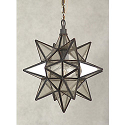 Hampton Bay Moravian Star Collection, 1 Light Pendant