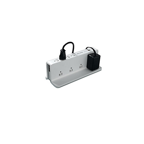 8 Outlet Compact Surge 8 Ft. Cord Telephone Protection