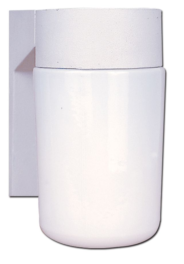 Outdoor Wall Lantern, White Finish - 4.5 Inches