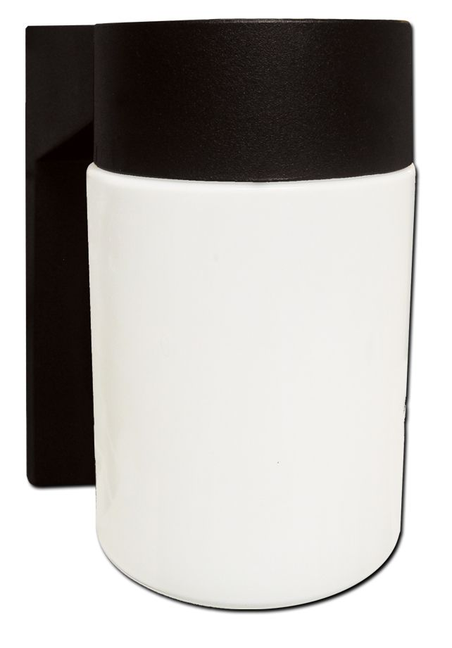 Outdoor Wall Lantern, Black Finish - 4.5 Inches