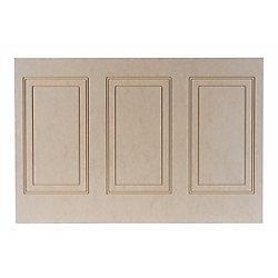 Walldesign Panneau hilton demi mur en MDF 1/4 po x 48 po x 32 po