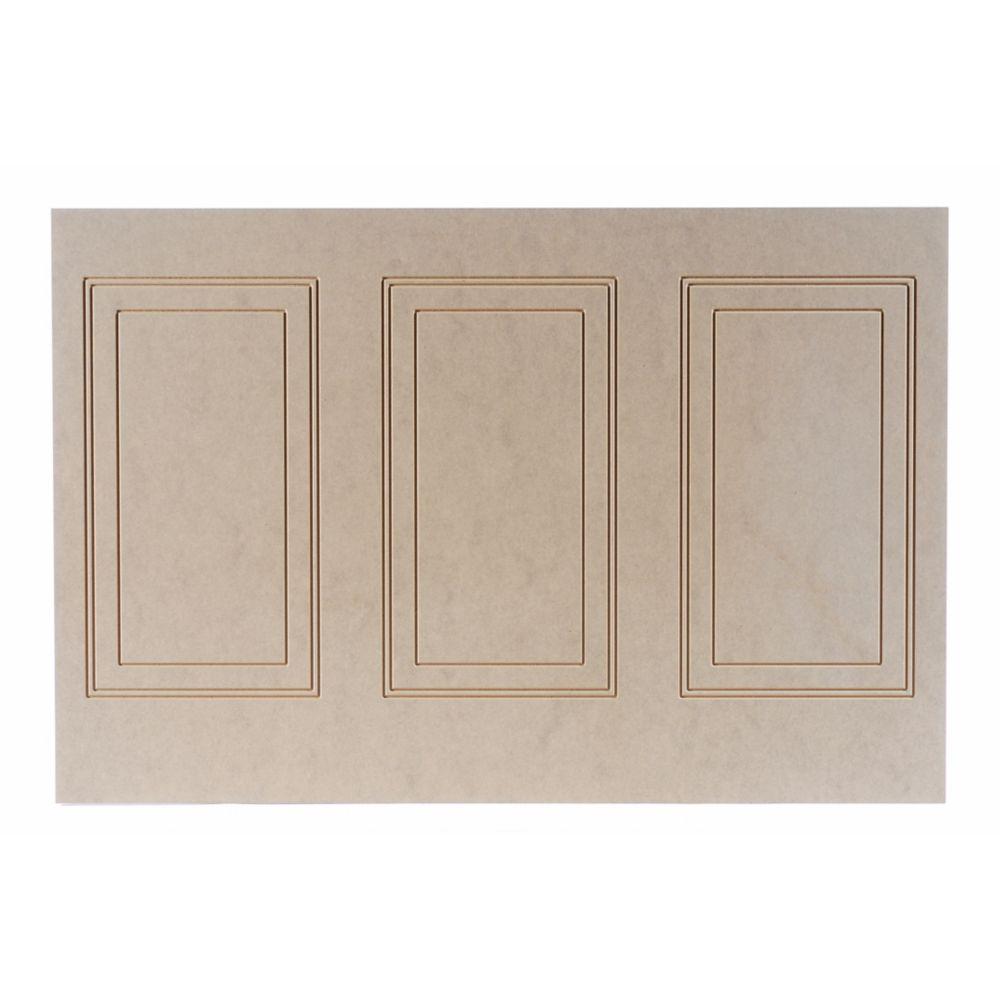 Panneau hilton demi mur en MDF 1/4 po x 48 po x 32 po