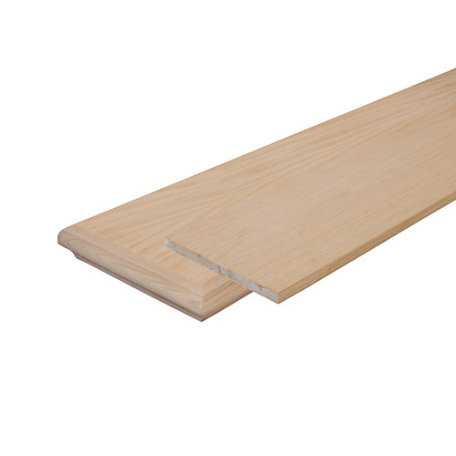Oak False Stair Tread with Returns and Riser 10-1/8 In. x 42 In.