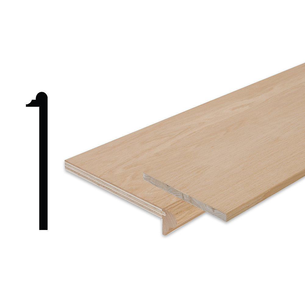 Oak Stair Tread Cap And Riser Kit 10-1/8 In  x 42 In