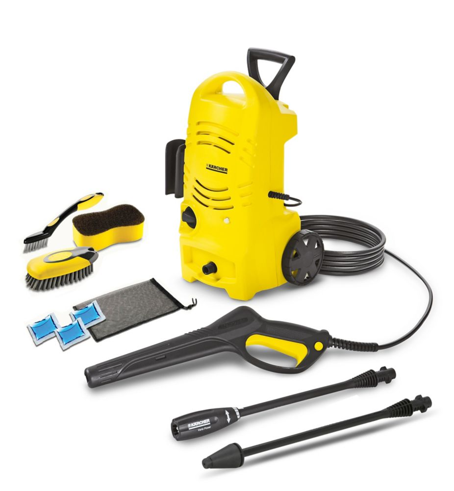 karcher 1600 psi electric pressure washer with dirtblaster wand and car care kit the. Black Bedroom Furniture Sets. Home Design Ideas