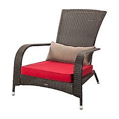 Wicker Muskoka Chair with Cushion