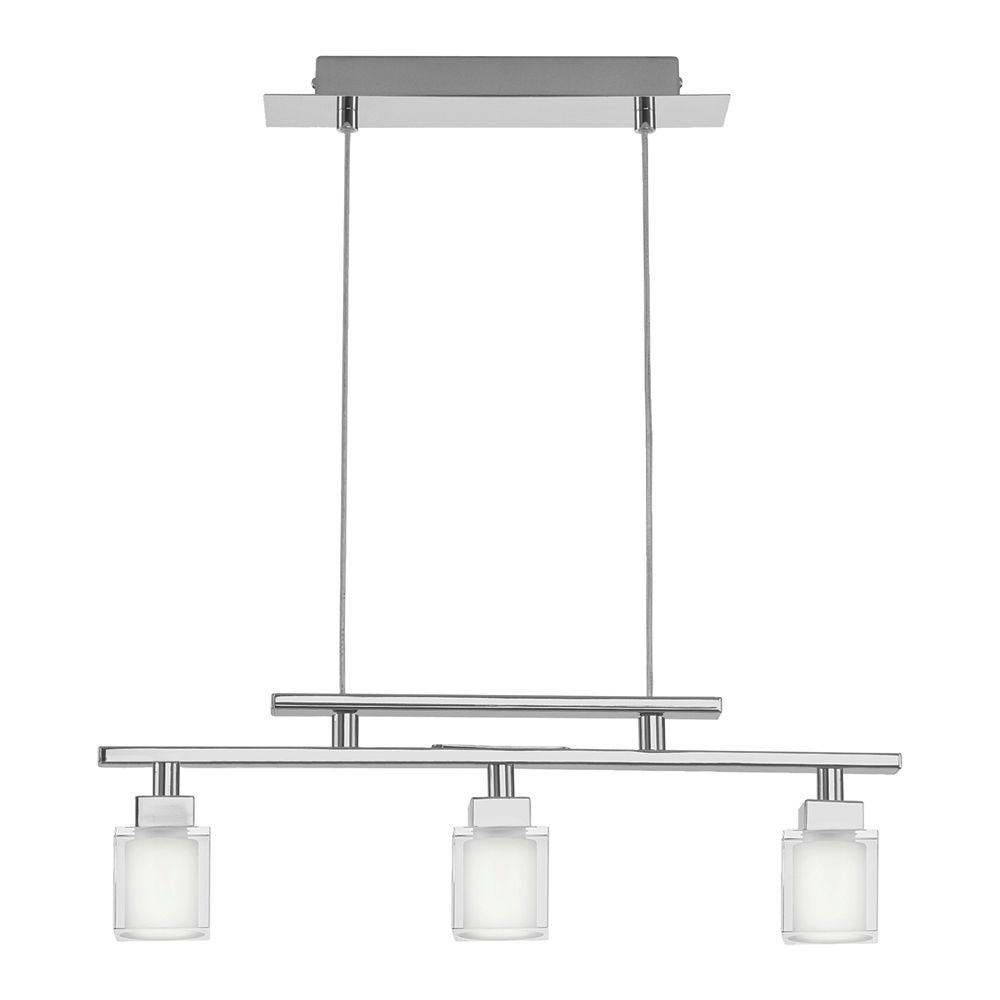 TANGA Suspension 3L, Chrome Finish with Crystal Glass