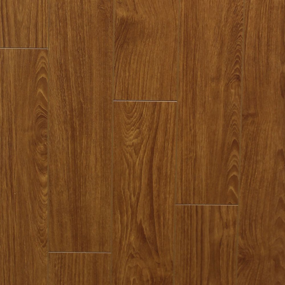 12mm Thick x 5-inch W Pecan Laminate Flooring
