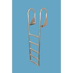 5-Step Flip-Up Aluminum Dock Ladder