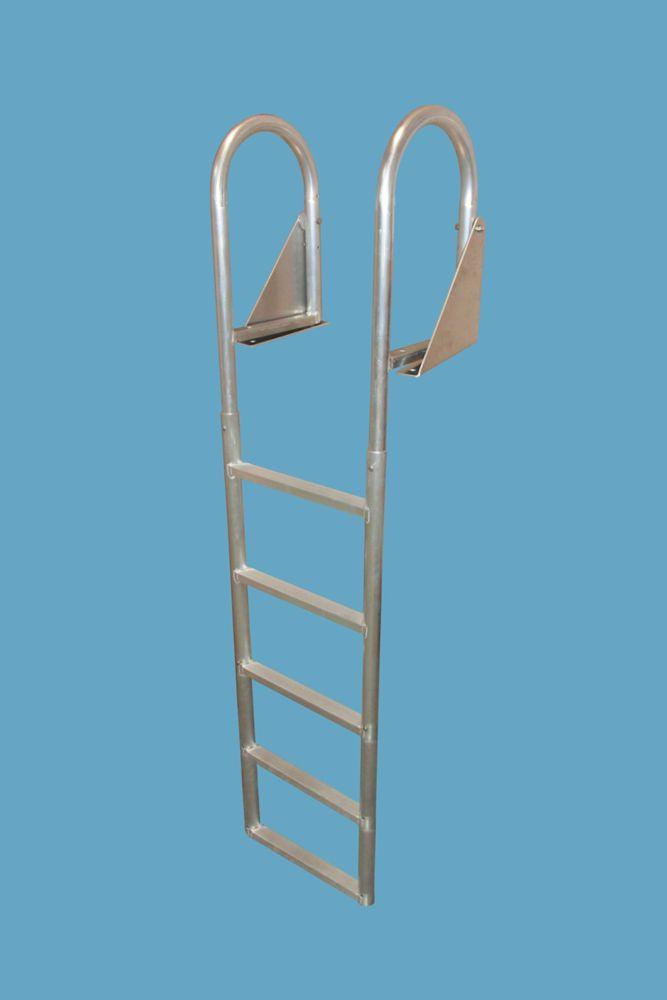 Aluminum Dock Ladder, 5-Step Flip-Up