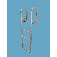 4-Step Flip-Up Aluminum Dock Ladder
